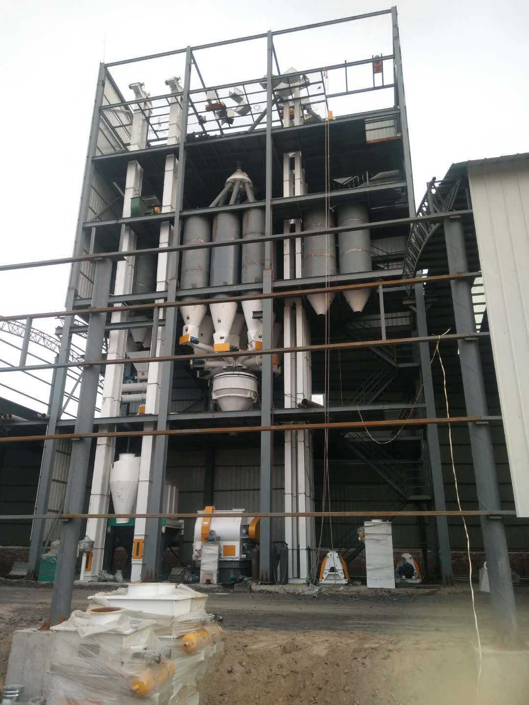 8-12 t/h feed production line installation site